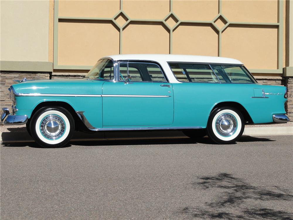 1955 CHEVROLET NOMAD WAGON - Side Profile - 125137