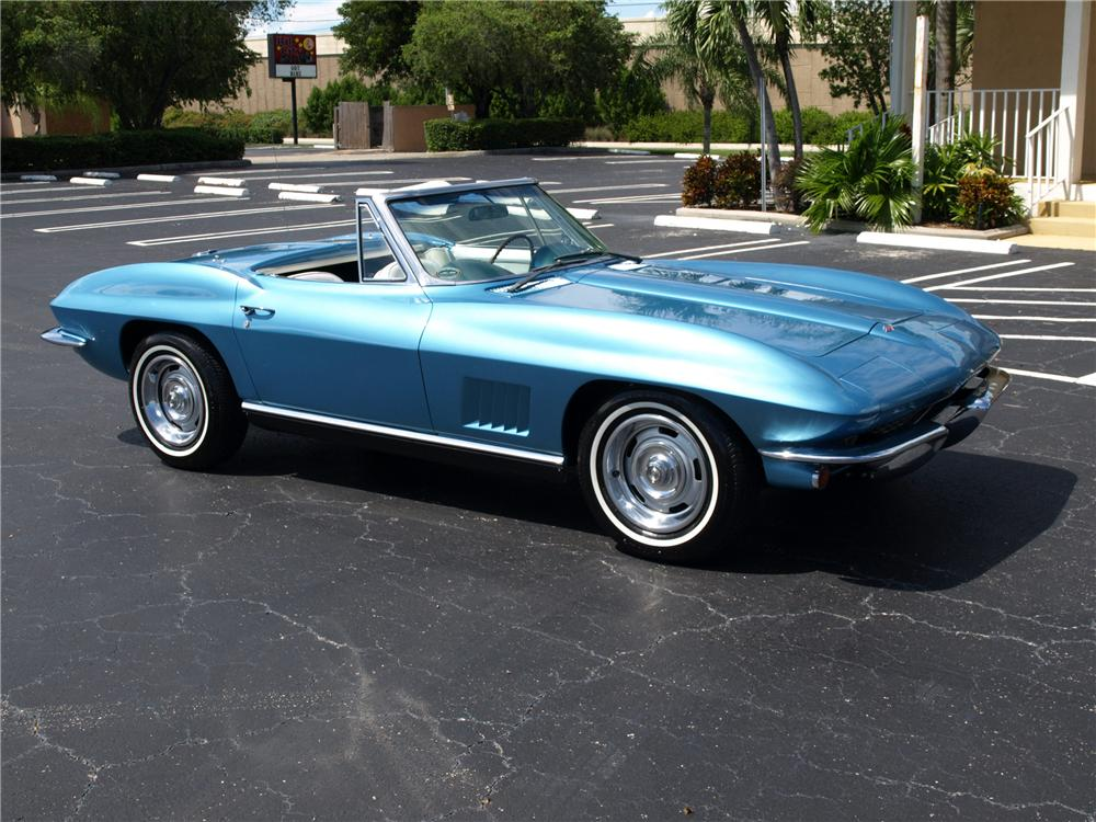 1967 CHEVROLET CORVETTE CONVERTIBLE - Side Profile - 125141