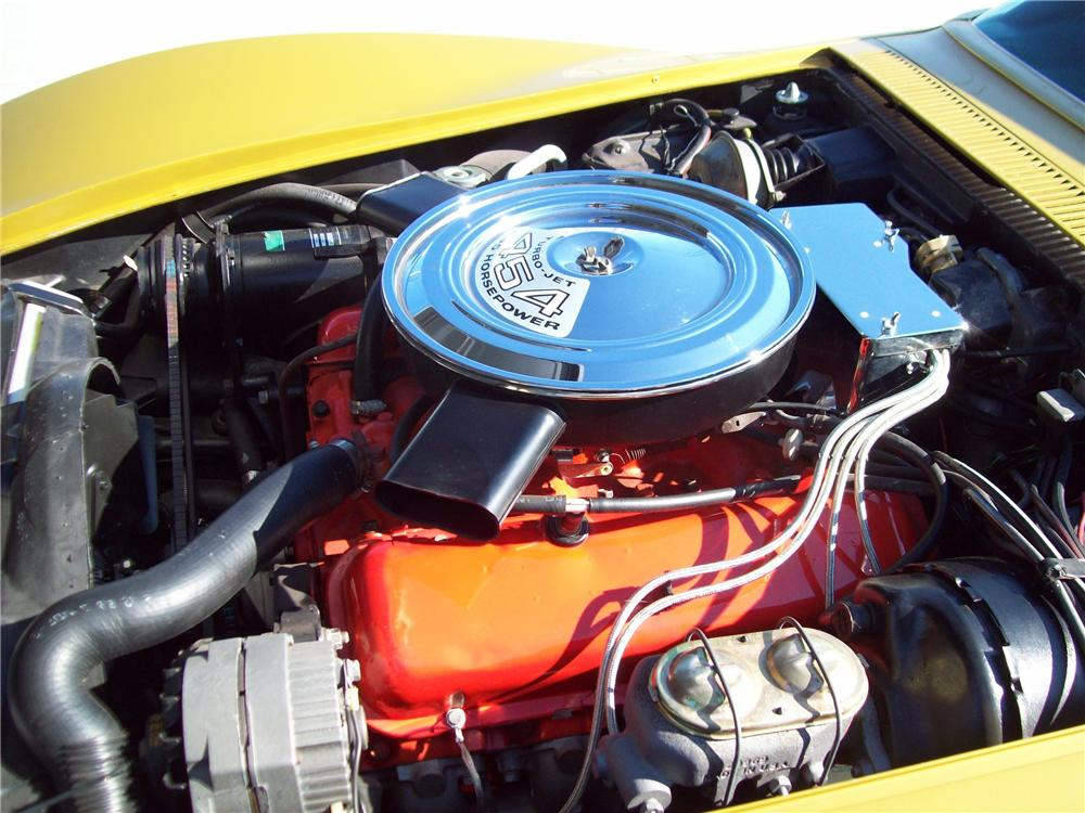 1971 CHEVROLET CORVETTE CONVERTIBLE - Engine - 125157