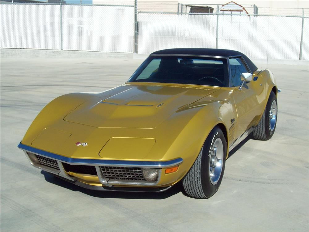 1971 CHEVROLET CORVETTE CONVERTIBLE - Front 3/4 - 125157