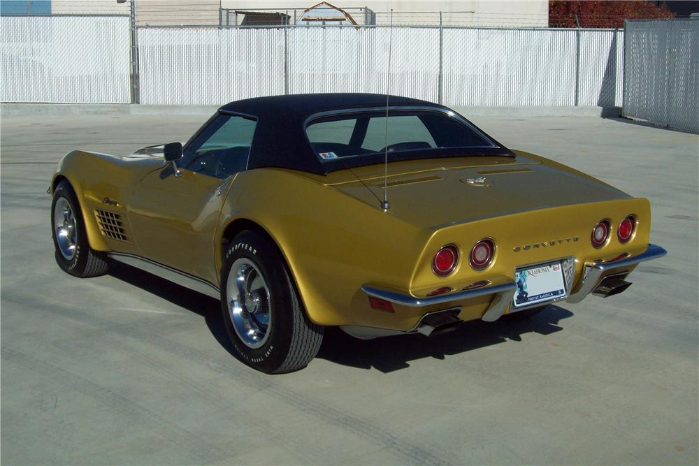 1971 CHEVROLET CORVETTE CONVERTIBLE - Rear 3/4 - 125157