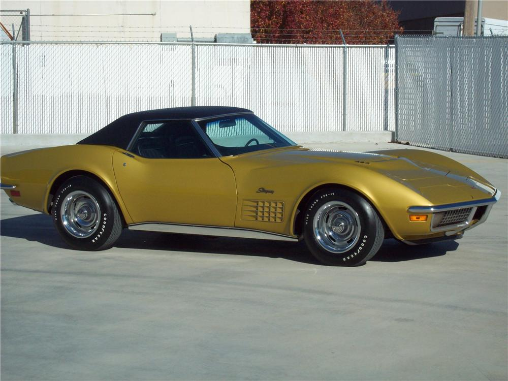 1971 CHEVROLET CORVETTE CONVERTIBLE - Side Profile - 125157