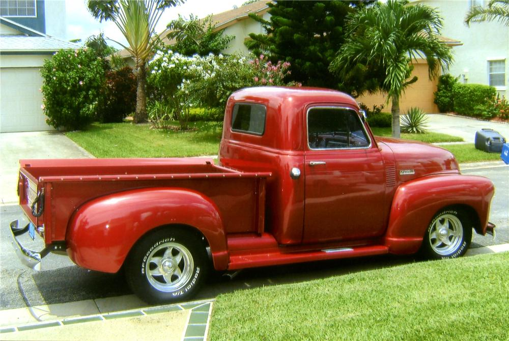 1952 CHEVROLET 3100 CUSTOM PICKUP - Front 3/4 - 125161