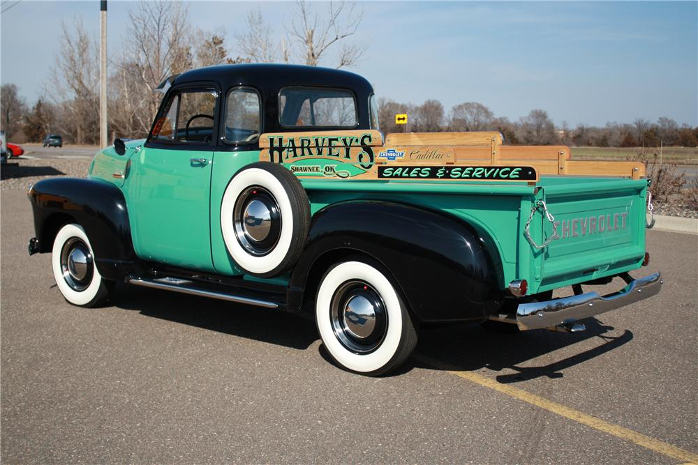 1954 CHEVROLET 3100 PICKUP - Rear 3/4 - 125178