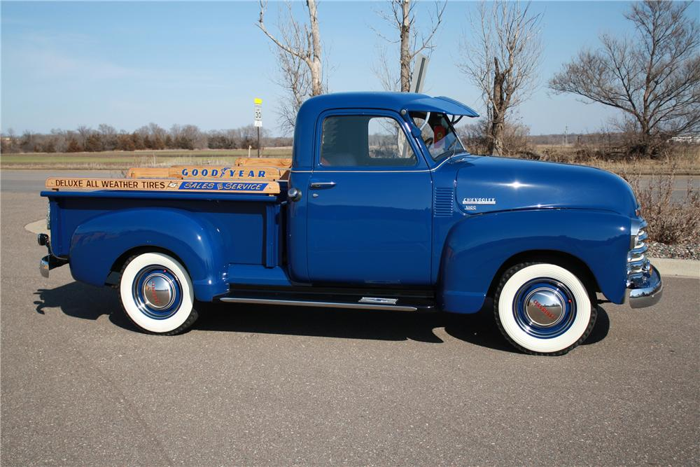 1949 CHEVROLET 3100 PICKUP - Side Profile - 125179
