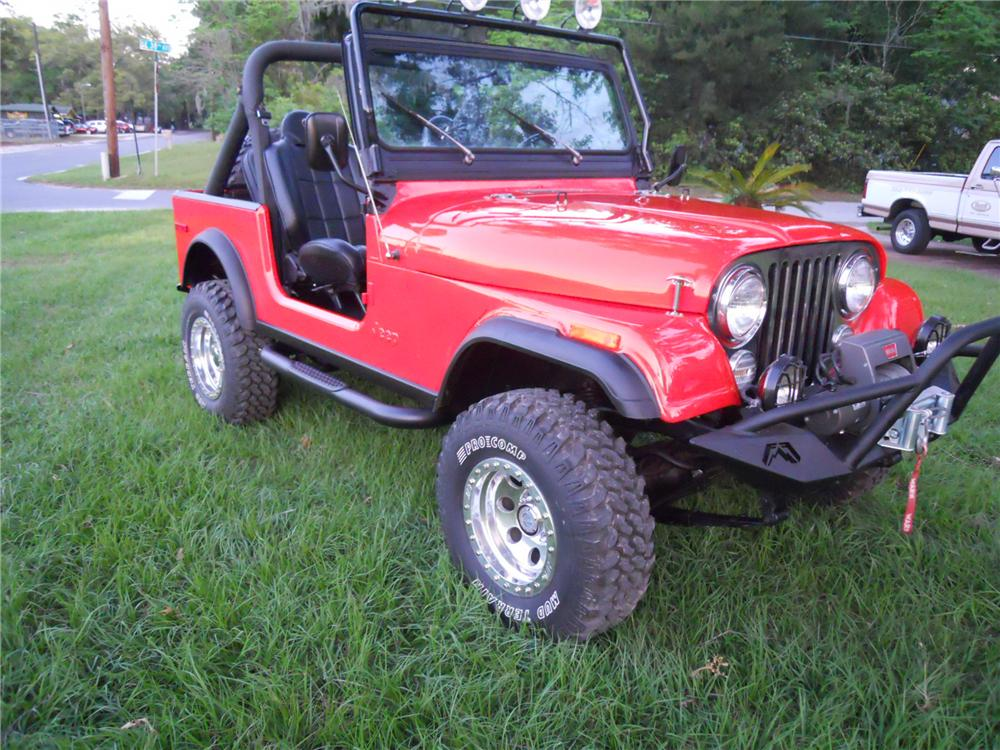 1979 JEEP CJ-7 CUSTOM SUV - Front 3/4 - 125181