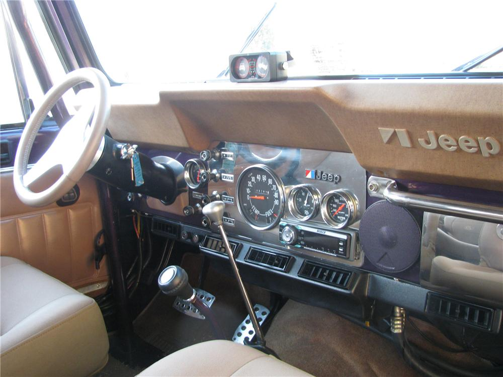 1980 JEEP CJ-7 CUSTOM SUV - Interior - 125186