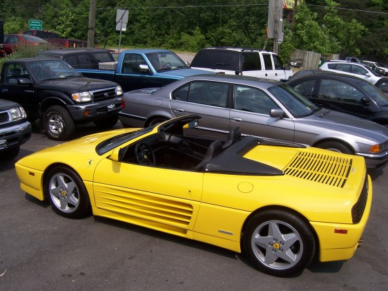 1995 FERRARI 348 SPYDER CONVERTIBLE - Rear 3/4 - 125196