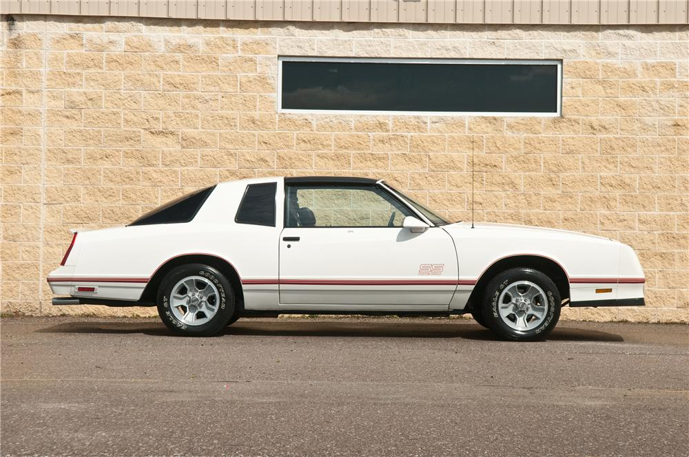 1987 CHEVROLET MONTE CARLO SS 2 DOOR HARDTOP - Side Profile - 125197