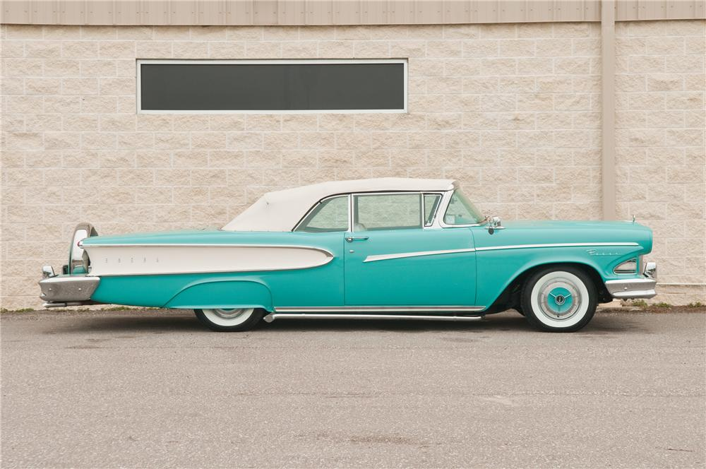 1958 EDSEL PACER CUSTOM CONVERTIBLE - Side Profile - 125203