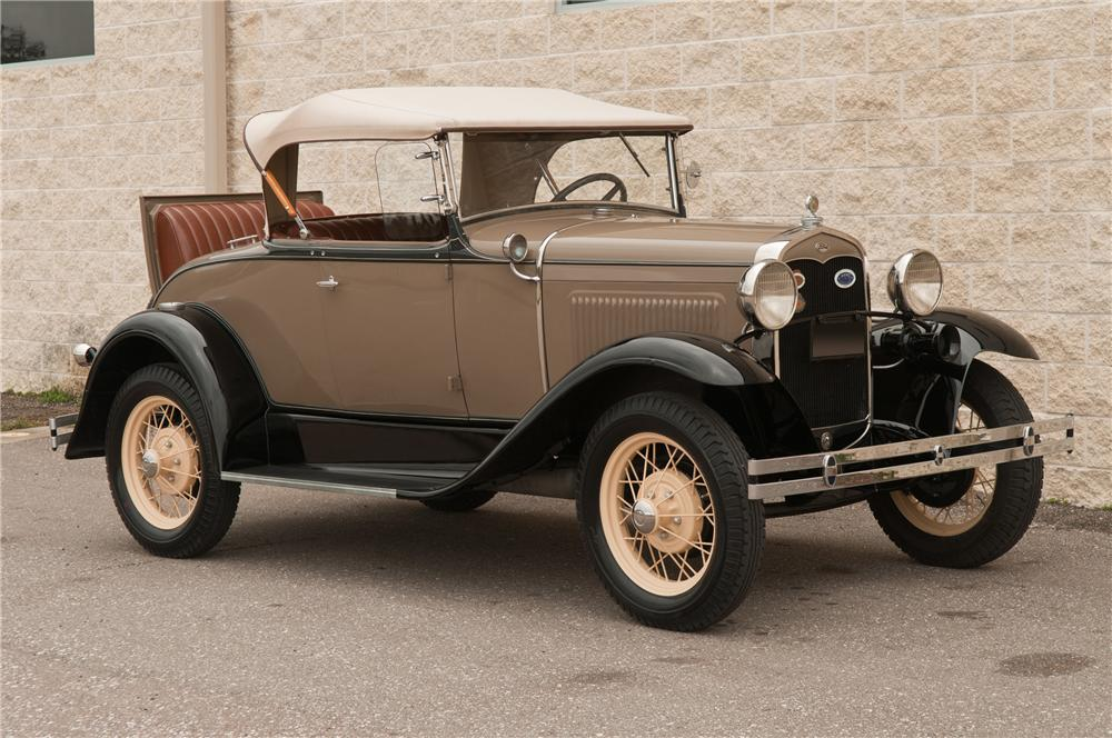 1931 FORD MODEL A ROADSTER - Front 3/4 - 125207
