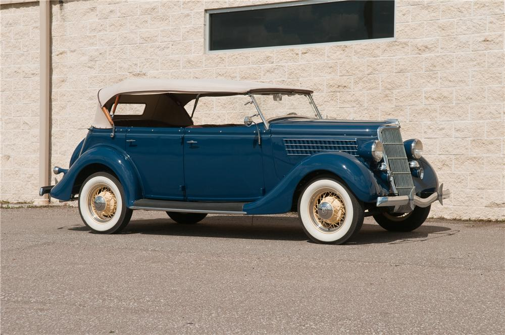1935 FORD PHAETON 4 DOOR CONVERTIBLE - Front 3/4 - 125216