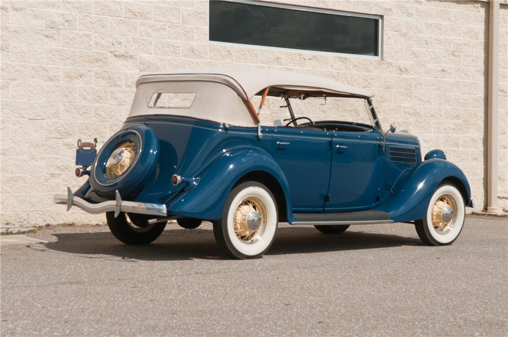 1935 FORD PHAETON 4 DOOR CONVERTIBLE - Rear 3/4 - 125216