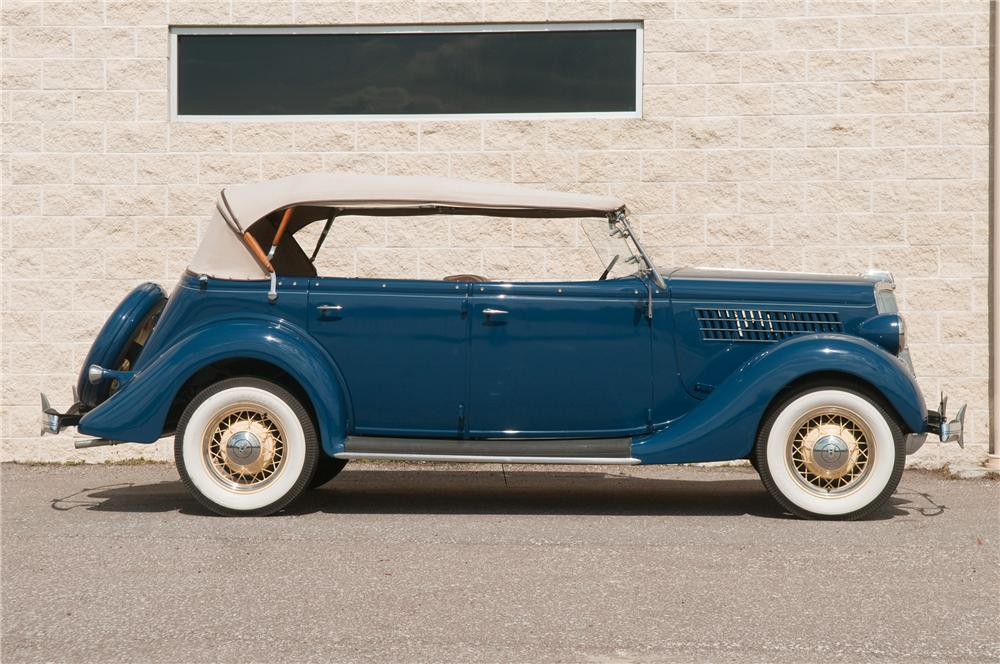 1935 FORD PHAETON 4 DOOR CONVERTIBLE - Side Profile - 125216