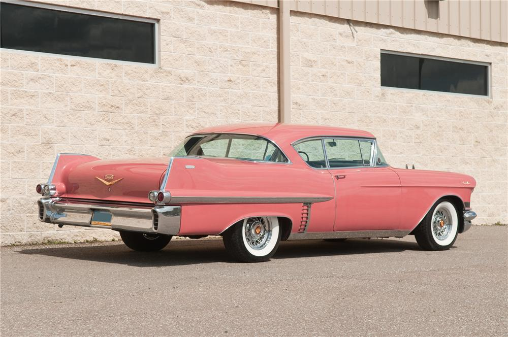 1957 CADILLAC SERIES 62 2 DOOR HARDTOP - Rear 3/4 - 125219