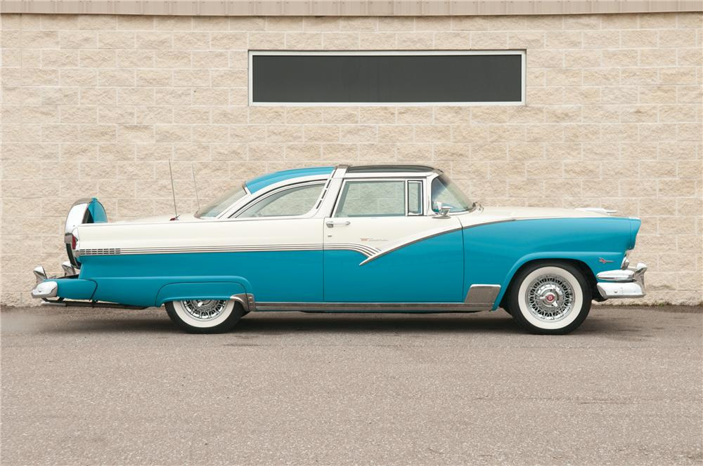 1956 ford crown victoria skyliner 2 door hardtop side profile. Cars Review. Best American Auto & Cars Review