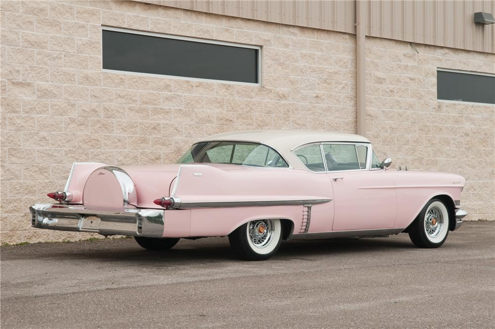 1957 CADILLAC COUPE DE VILLE 2 DOOR HARDTOP - Rear 3/4 - 125227