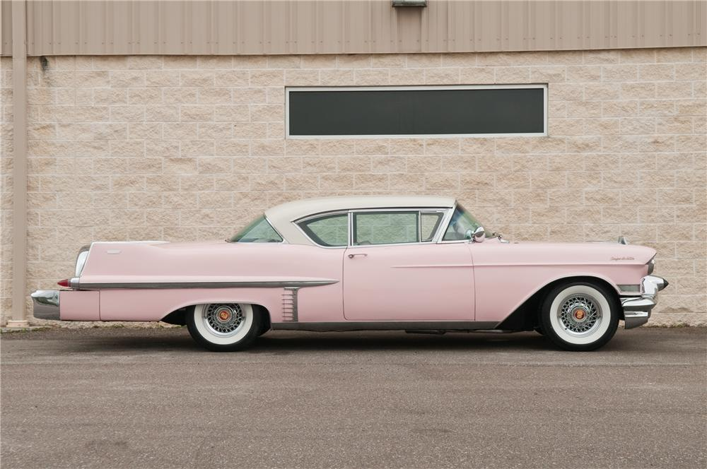 1957 CADILLAC COUPE DE VILLE 2 DOOR HARDTOP - Side Profile - 125227