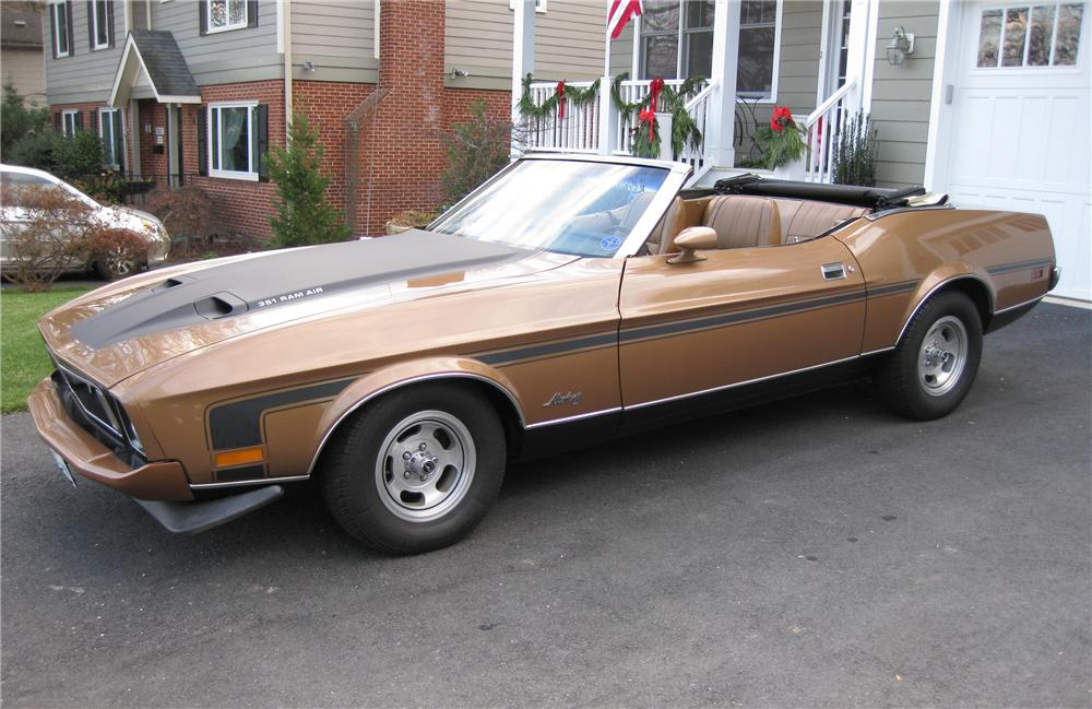 1973 FORD MUSTANG CONVERTIBLE - Front 3/4 - 125247