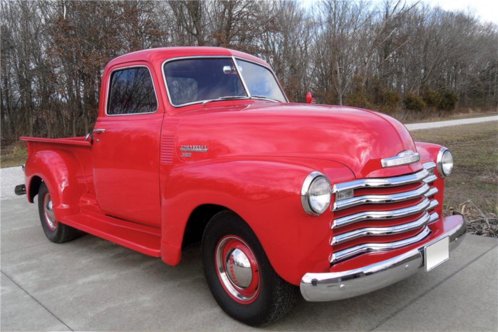 1950 CHEVROLET SHORT BED PICKUP - Front 3/4 - 125249