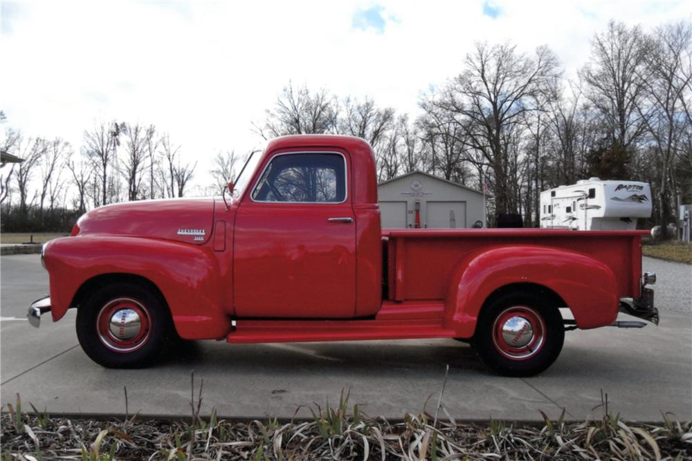 1950 CHEVROLET SHORT BED PICKUP - Side Profile - 125249