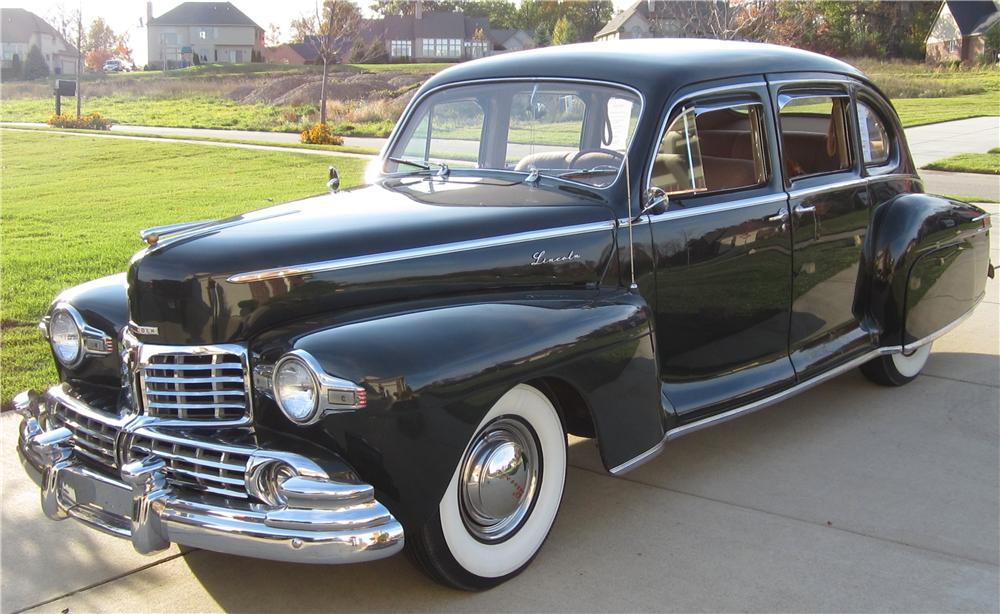 1947 LINCOLN ZEPHYR 4 DOOR SEDAN - Side Profile - 125263