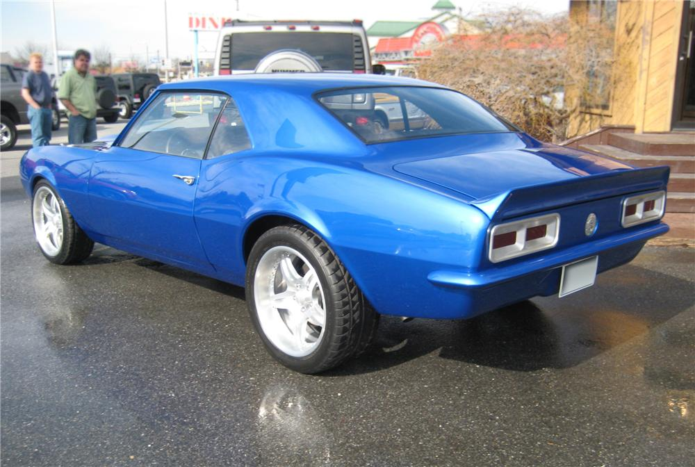 1968 CHEVROLET CAMARO CUSTOM 2 DOOR COUPE - Rear 3/4 - 125266