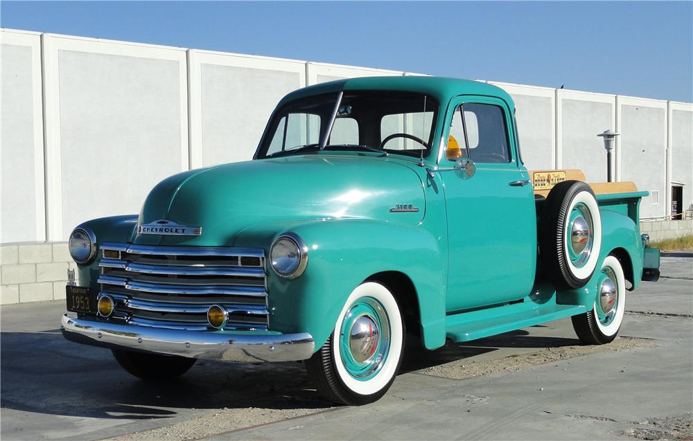1953 CHEVROLET 3100 PICKUP - Front 3/4 - 125268