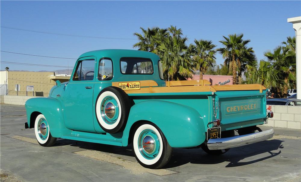 1953 CHEVROLET 3100 PICKUP - Rear 3/4 - 125268