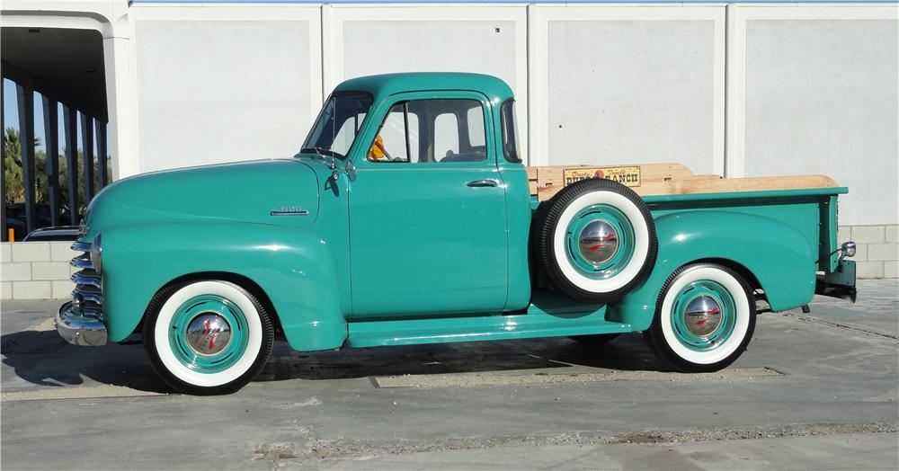 1953 CHEVROLET 3100 PICKUP - Side Profile - 125268