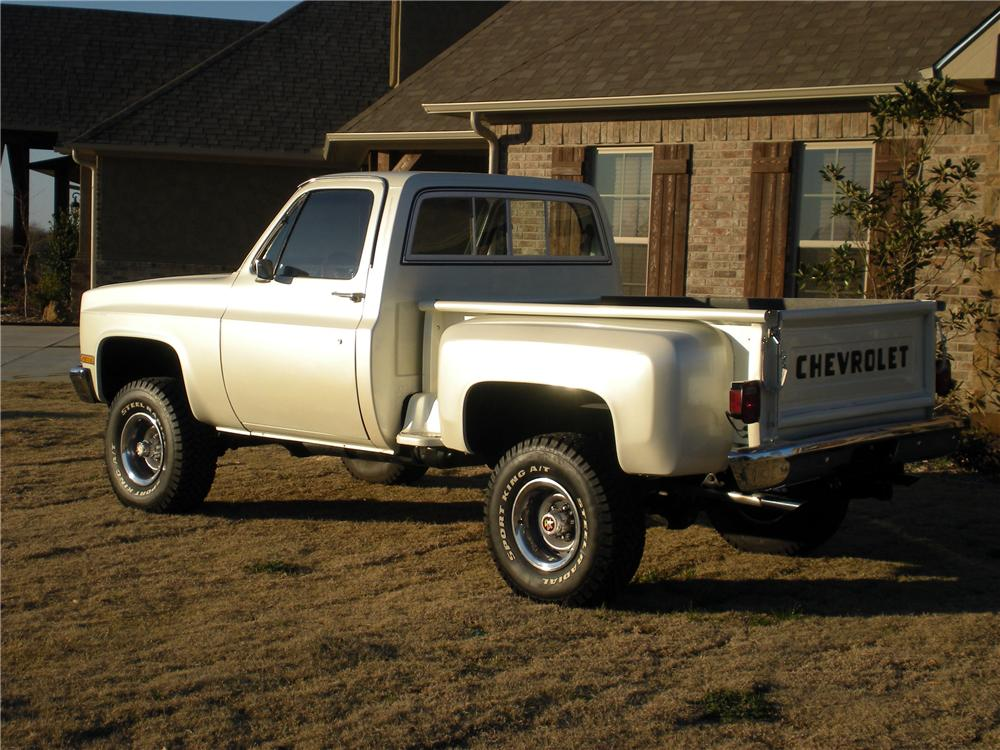 1985 CHEVROLET K10 4X4 PICKUP - Rear 3/4 - 125295