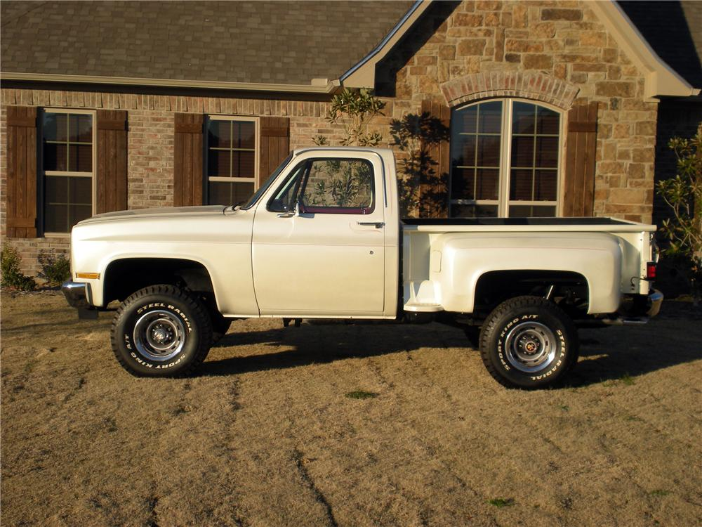 1985 CHEVROLET K10 4X4 PICKUP - Side Profile - 125295