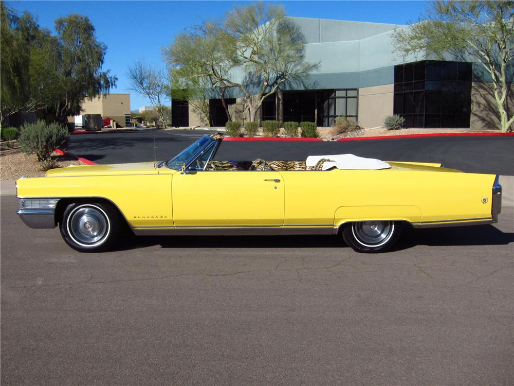 1965 CADILLAC ELDORADO CUSTOM CONVERTIBLE - Side Profile - 125312