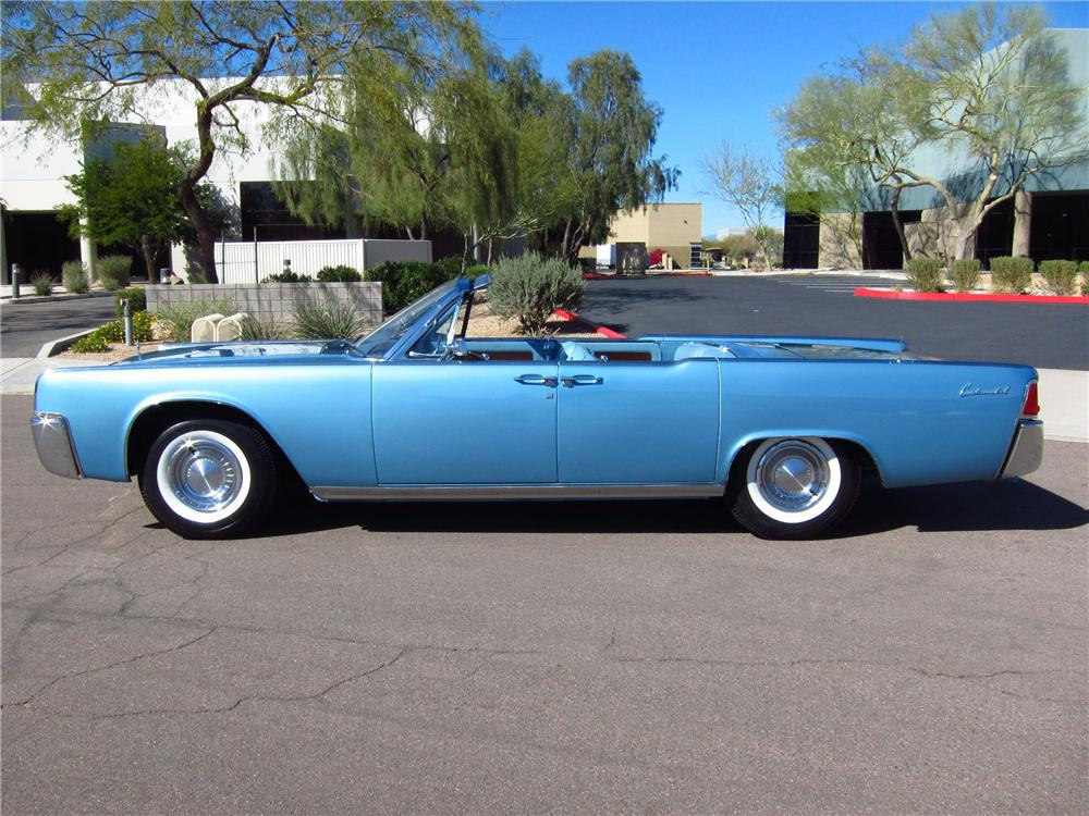 1962 LINCOLN CONTINENTAL 4 DOOR CONVERTIBLE - Side Profile - 125316