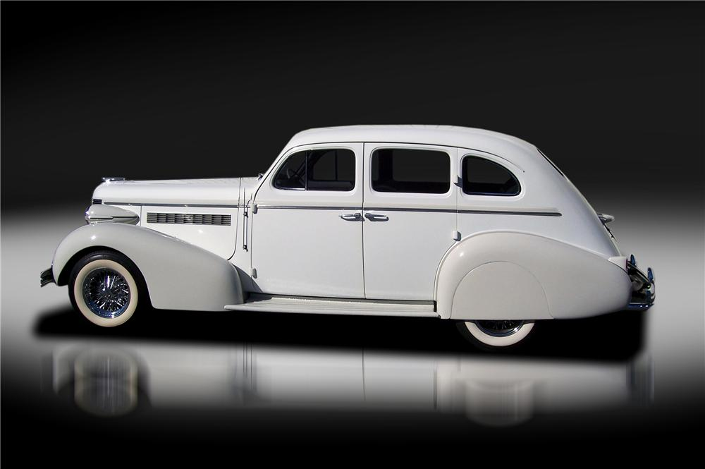 1937 BUICK SPECIAL CUSTOM 4 DOOR SLANT - Side Profile - 125318