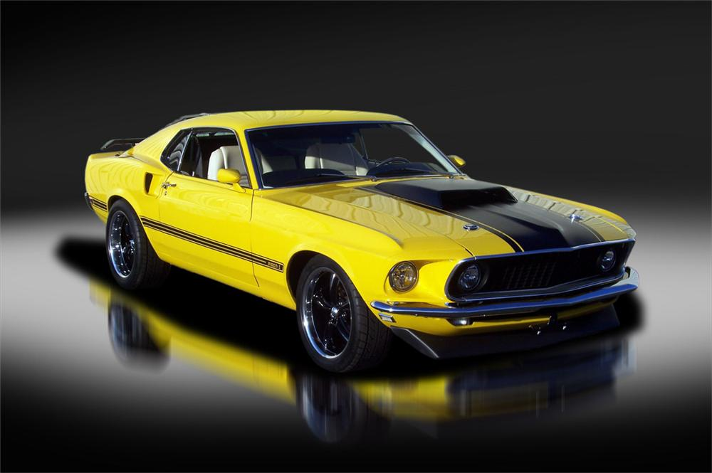 1969 FORD MUSTANG CUSTOM FASTBACK - Front 3/4 - 125320