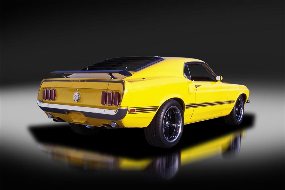 1969 FORD MUSTANG CUSTOM FASTBACK - Rear 3/4 - 125320
