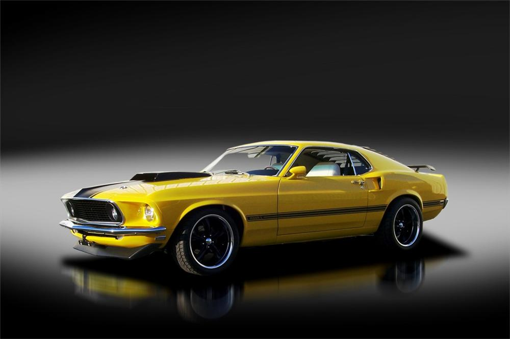 1969 FORD MUSTANG CUSTOM FASTBACK - Side Profile - 125320