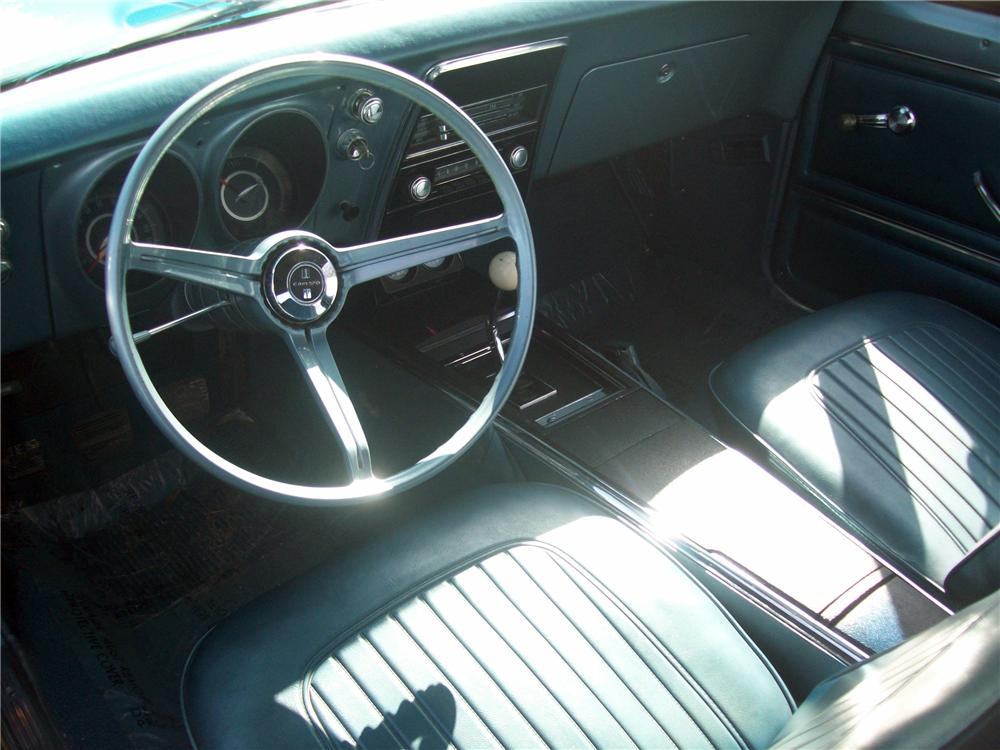 1967 CHEVROLET CAMARO CONVERTIBLE - Interior - 125321