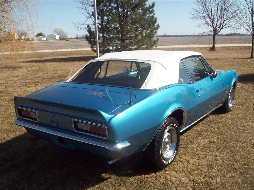 1967 CHEVROLET CAMARO CONVERTIBLE - Rear 3/4 - 125321