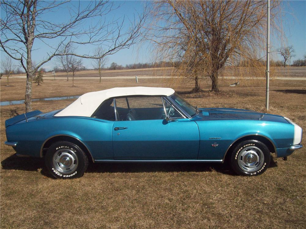 1967 CHEVROLET CAMARO CONVERTIBLE - Side Profile - 125321