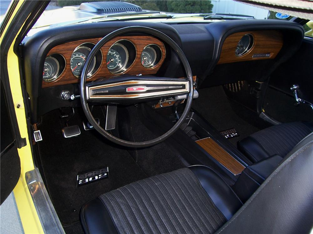 1970 FORD MUSTANG BOSS 302 FASTBACK - Interior - 125322