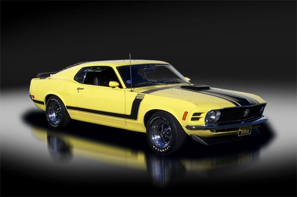 1970 FORD MUSTANG BOSS 302 FASTBACK - Side Profile - 125322