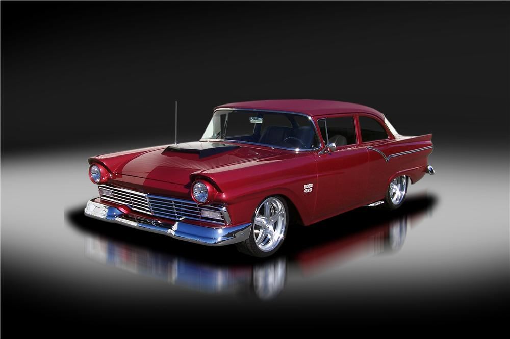 1957 FORD BUSINESS CUSTOM COUPE - Front 3/4 - 125324