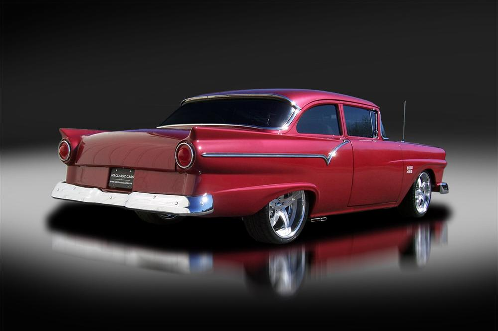 1957 FORD BUSINESS CUSTOM COUPE - Rear 3/4 - 125324