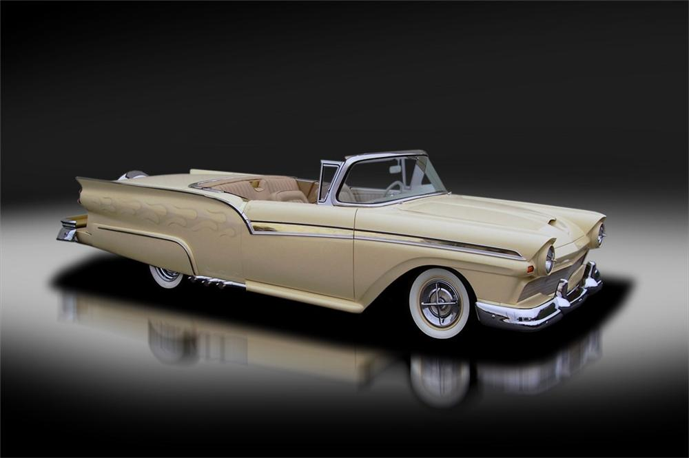 1957 FORD SKYLINER CUSTOM RETRACTABLE HARDTOP - Front 3/4 - 125325