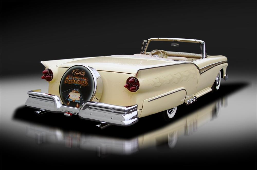 1957 FORD SKYLINER CUSTOM RETRACTABLE HARDTOP - Rear 3/4 - 125325