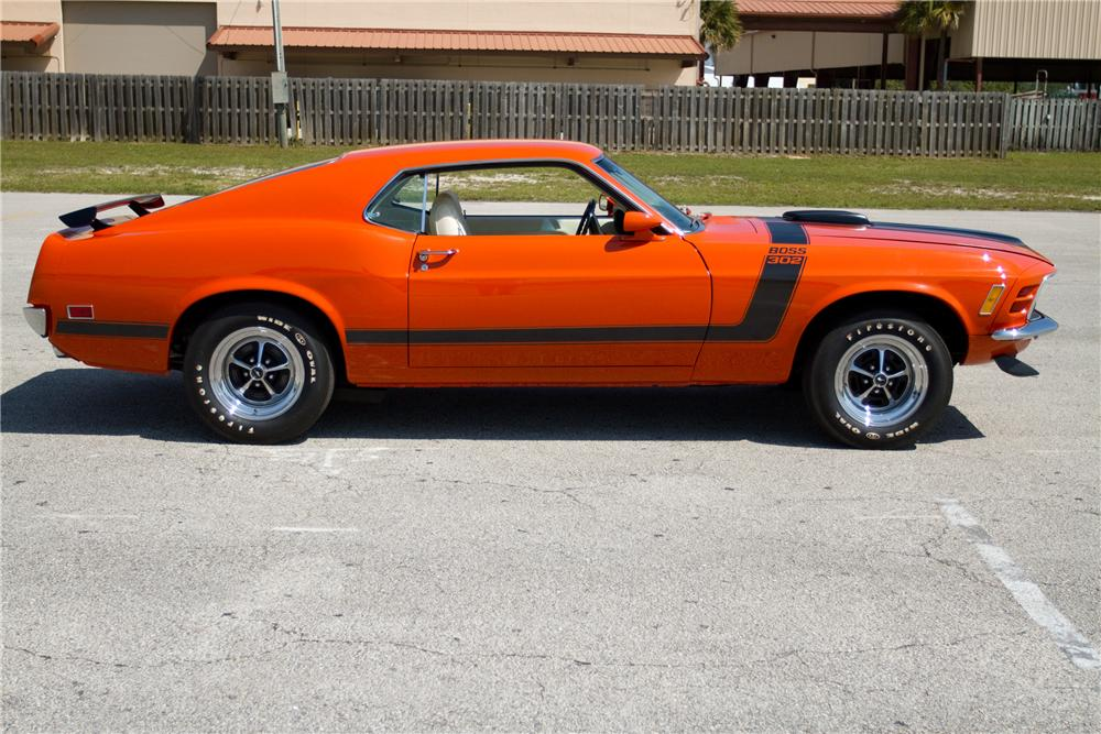 1970 FORD MUSTANG BOSS 302 FASTBACK - Side Profile - 125326
