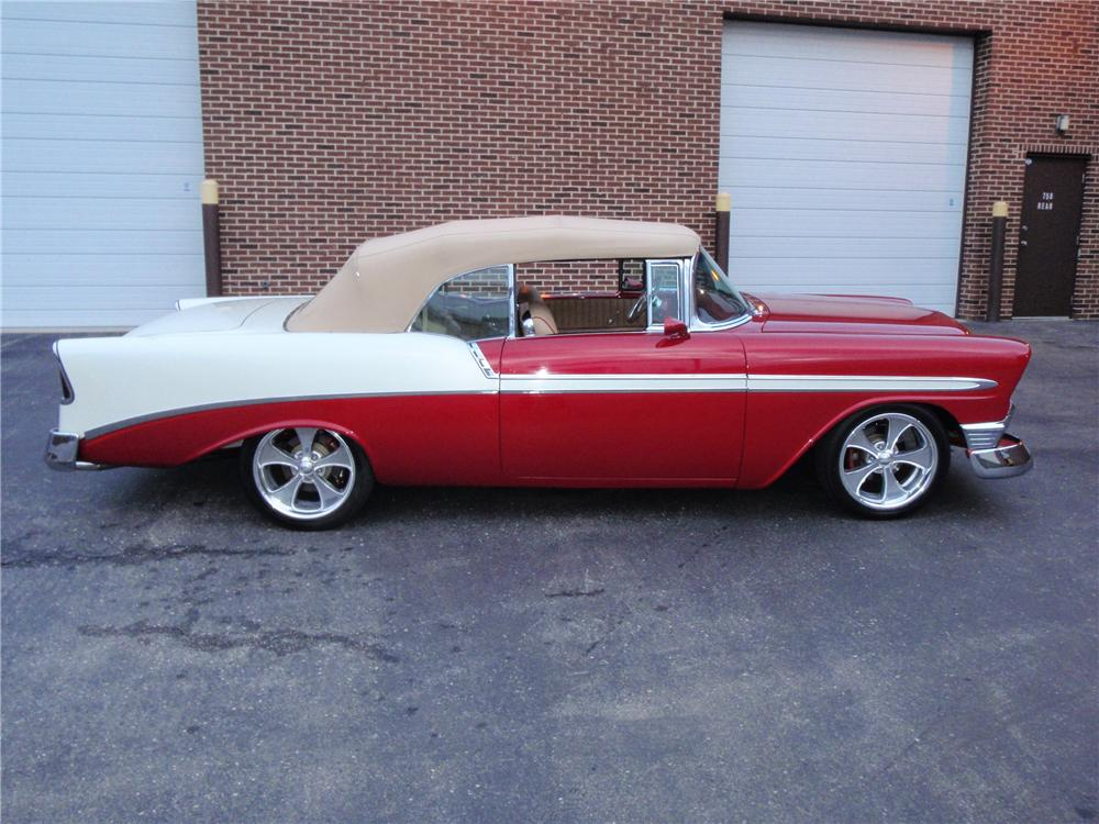 1956 CHEVROLET BEL AIR CUSTOM CONVERTIBLE - Side Profile - 125328