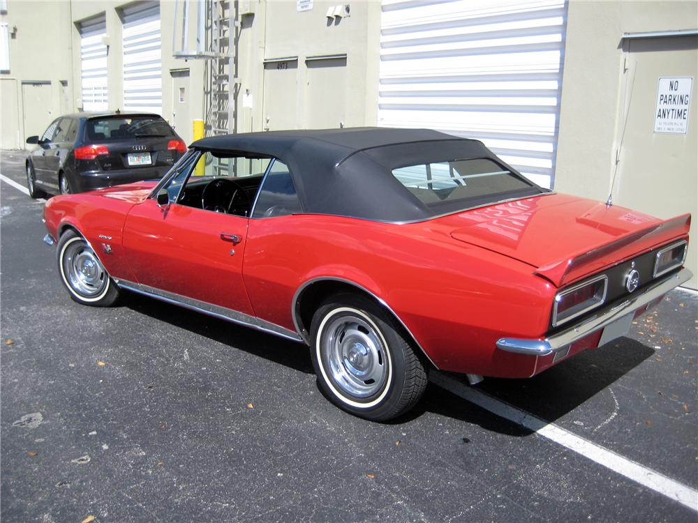 1967 CHEVROLET CAMARO CONVERTIBLE - Rear 3/4 - 125334